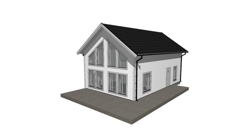 Fritidshus, fjällhus på 100 kvadratmeter med loftvåning