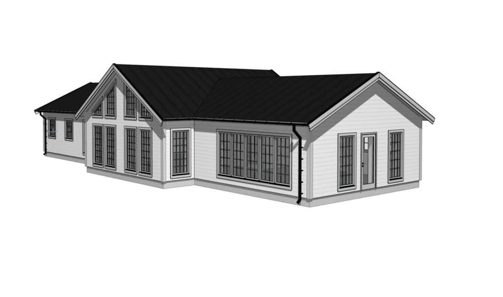 Fritifshus, fjällhus på 170 kvadratmeter